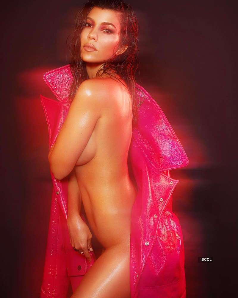 Kourtney Kardashian raises temperatures as she almost bares it all in her bold photoshoot