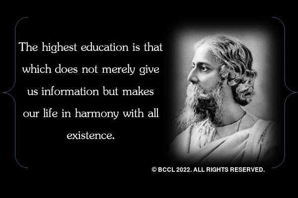 10 quotes of Rabindranath Tagore to set your life right