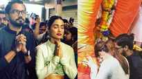 Hina Khan seeks blessings from Lalbaugcha Raja with beau Rocky Jaiswal