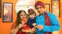TV couple Malini and Ajay celebrate son's first Diwali in Jaipur