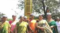 Mumbai Dabbawalas' wives inaugurate a 5-foot tall dabba installation on Women's Day