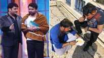 Comedian Kapil Sharma addresses his friends Chandan Prabhakar and Rajiv Thakur as 'bhookhe'
