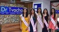 Miss India 2019 West winners visit Dr Tvacha's clinic in Pune