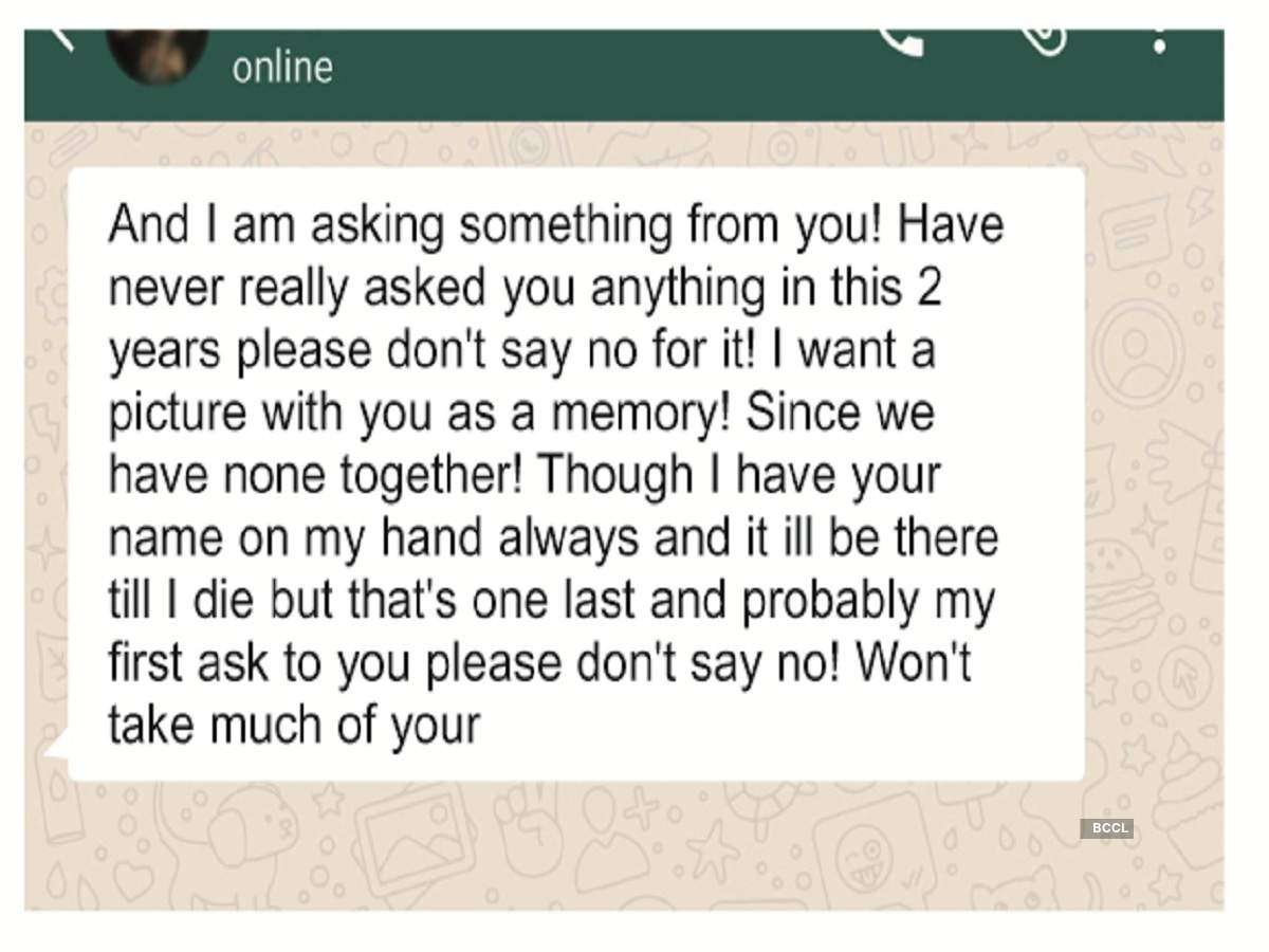 Friends share Whatsapp messages sent by the fashion designer