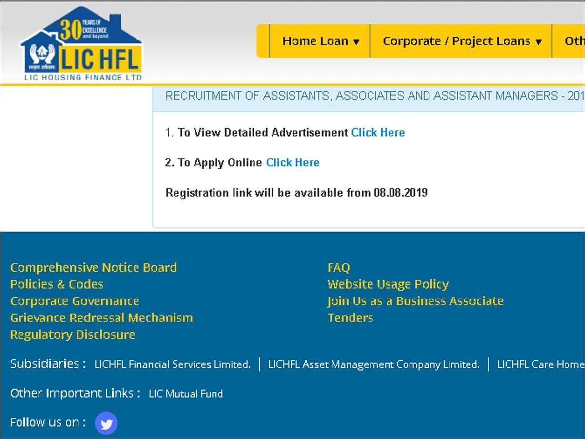 LIC HFL Recruitment 2019: Apply online for 300 Assistant, Associate