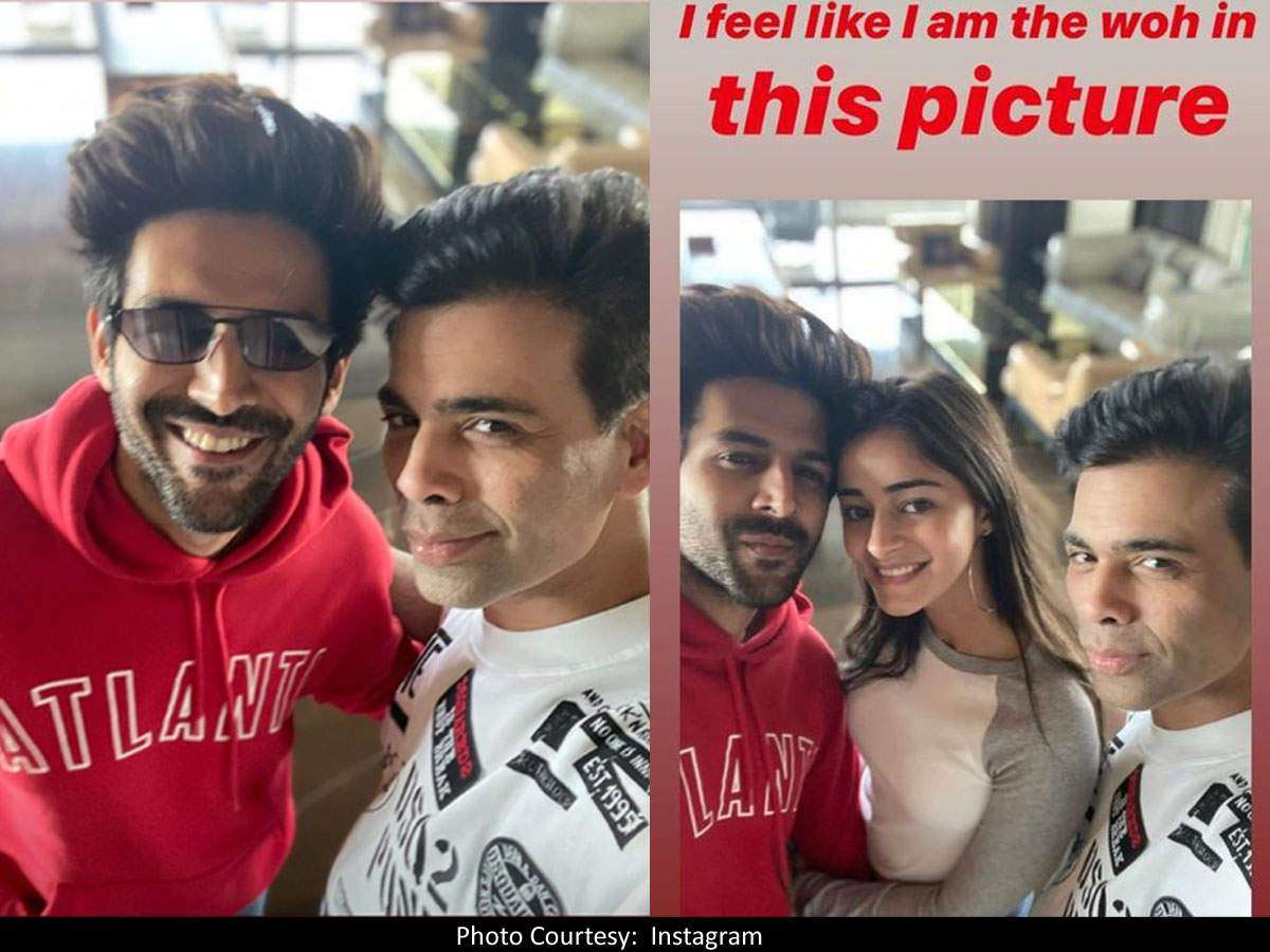 Did Karan Johar drop a hit about Kartik Aaryan and Ananya Panday's ...